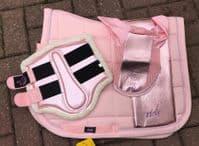 Cavallino Marino Metallic Saddle Pad - Pink
